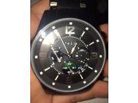 Men's black fossil watch