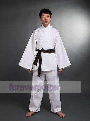 1pc Star Wars tunic robe  Jedi OBI/Sith/Karate Martial Arts Uniform White Suit