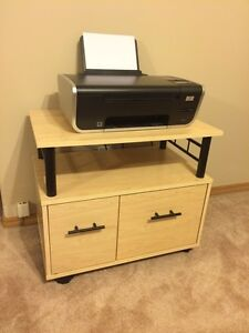 Must sell today!! Printer table storage unit