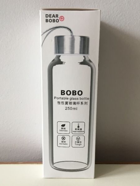 Bobo portable glass bottle