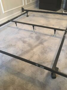 King Bed Frame and two twin boxsprings