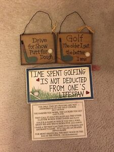 Golf Quote Plaques  Kitchener / Waterloo Kitchener Area image 1