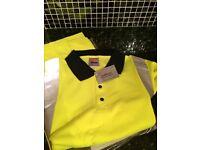 5 Hi-viz polo shirts size Medium