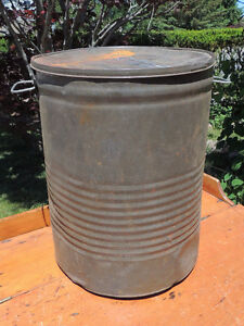 Antique Tin ware flour bin