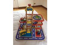 Toy garage (wooden)