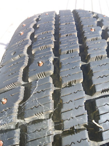 14 inch nearly new studded tires