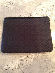 Coach Signature Fabric Padded Tablet Sleeve