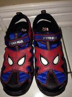 Boys size 1 Spider-Man sandals with light up eyes