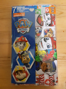 Paw patrol toddler briefs,  7 pack 2T/3T
