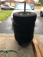 195/65R15 Winter Tires on 4 lug holes on Rim  Nordic Goodyear