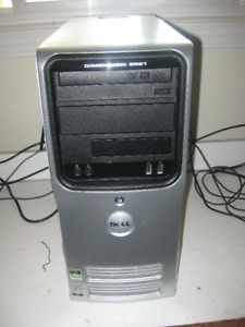 Excellent Dell White Mid Tower With Fresh 64 bits Windows 7 and