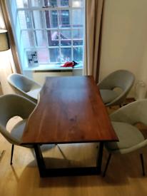 Natural Acacia Wood Dining Table
