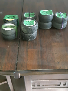 1/10 scale 4wd buggy tires all mostly new