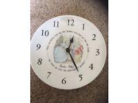 Peter Rabbit Wedgwood Wall Clock and Peter Rabbit Lamp