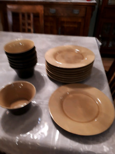 Corelle Stoneware dishes, bowls, cups
