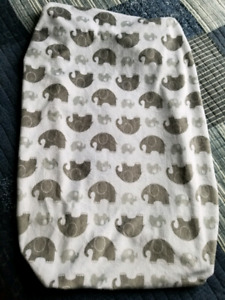 Elephant change pad cover