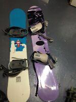 Deux snowboards a vendre