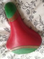VINTAGE leather bicycle seat VALENTINE FIRENZE made Italy BROOKS