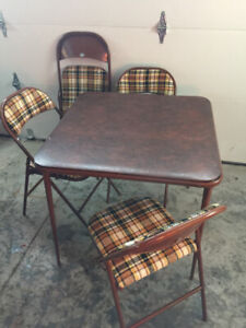 Codey Folding Card Table and 4 Chairs