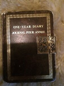 Antique diary with lock
