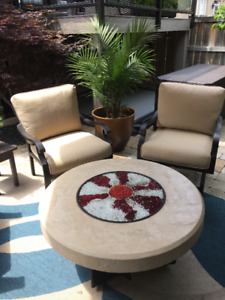 Outdoor Milano Chairs & Oriflame Firepit Table