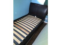 Genuine Leather single bed frame
