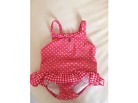 Girls swim costume with nappy protector