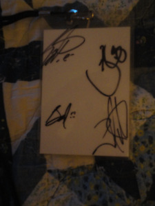 Laminated VIP Shinedown Pass Signed by all 4 Members