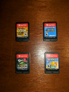 4 Nintendo Switch Games for Sale