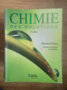 Chimie des solutions - Raymond Chang