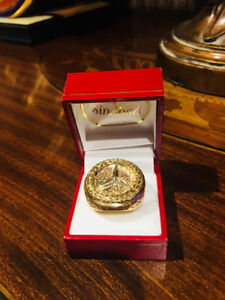 Big Jumbo 10K Gold Mercedes Custom ring