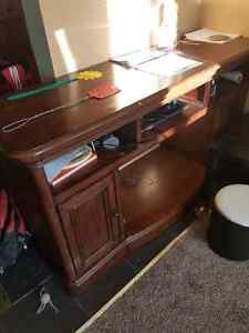Solid wood TV cabinet with fire place slot  Cambridge Kitchener Area image 1