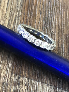 Gorgeous eternity or engagement ring for you!