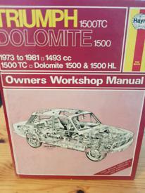 Triumph dolomite manual