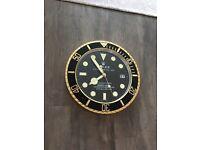Rolex wall clock shop display