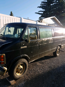 Selling parts off the van, maybe the body