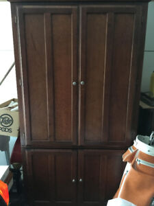 Tall Wooden Cabinet for Stereo, Media