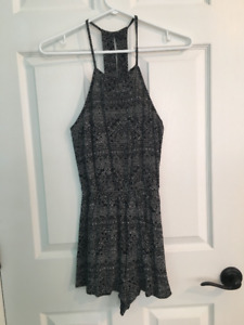 Black and White Patterned Romper from PacSun