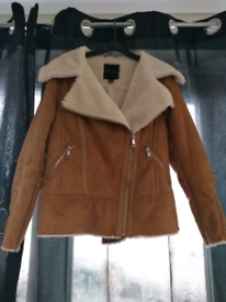 Brand New New look faux shearling jacket coat