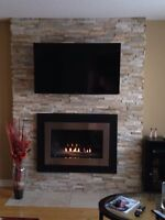 Fireplaces, Gas Inserts, Stone Work, Custom Mantles