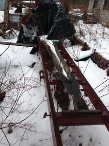 portable sawmill, wood, 3 snowmobiles, tools