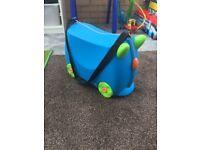 Blue unisex trunki, children's suitcase