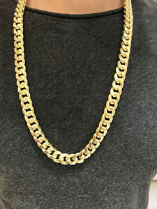 10k Yellow MIAMI Cuban Link 30 inches 13 mm 117 gr