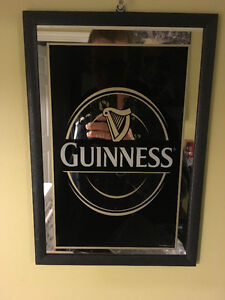 Guinness Collectible Signs and Mirror