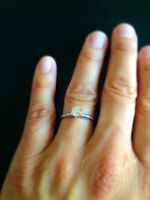 Solitaire, engagement ring, real diamond!