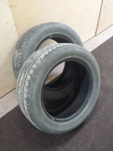 Pair of Yokohama all season tires - 225 55 17
