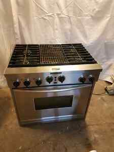 Stainless Stove kitchenaid 36 inch