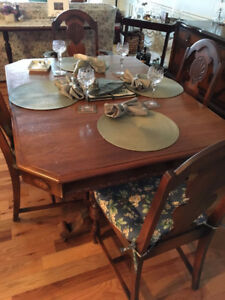 150 Year Old Solid Walnut Dining Room Set