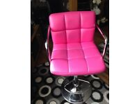 Pink has lift swivel chair