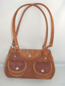 Retro Hand Crafted Genuine Leather Purse Shoulder Bag